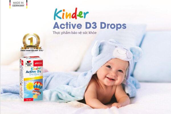 Kinder Active D3 Drops – Cách tốt nhất để phòng ngừa còi xương và thiếu hụt vitamin D ở trẻ