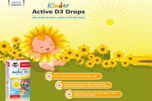 Bổ sung vitamin D3 an toàn cho bé với Kinder Active D3 drops