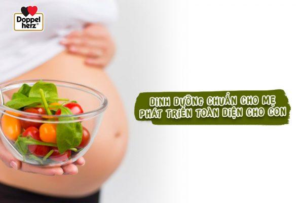 Chế độ dinh dưỡng trong tháng đầu mang thai