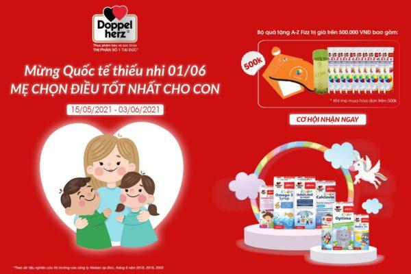 Món quà Doppelherz gợi ý giúp các mẹ dành tặng con yêu nhân ngày Quốc tế Thiếu Nhi