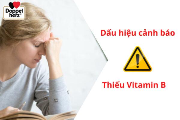 Dấu hiệu cảnh báo cơ thể thiếu Vitamin B