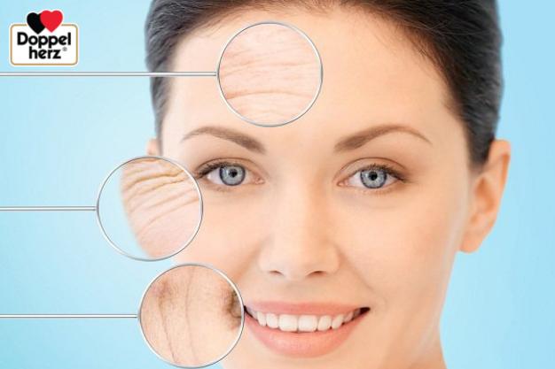 Khi da bị lão hóa, độ căng bóng, săn chắc của da giảm, xuất hiện nhiều các nếp nhăn, đường nhăn